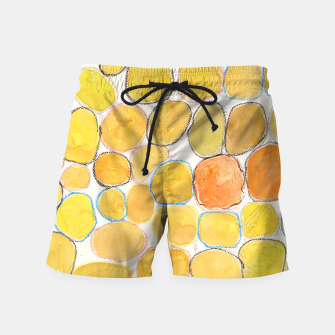 Thumbnail image of Cheerful Orange Gathering Swim Shorts, Live Heroes