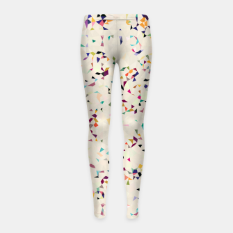 Thumbnail image of fun pattern Girl's Leggings, Live Heroes