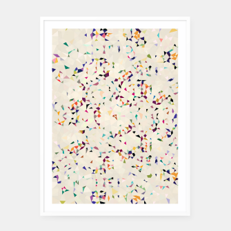 Thumbnail image of fun pattern Framed poster, Live Heroes