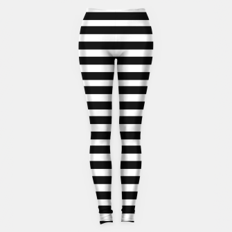 Miniatur Black Stripes seamless pattern Leggings, Live Heroes