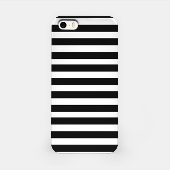 Miniatur Black Stripes seamless pattern iPhone Case, Live Heroes