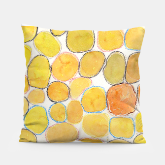 Thumbnail image of Cheerful Orange Gathering Pillow, Live Heroes