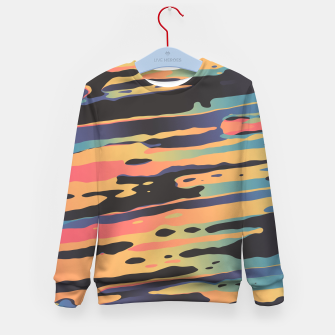 Trippy Dawntime Kid's Sweater Bild der Miniatur