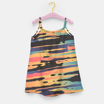 Trippy Dawntime Girl's Dress Bild der Miniatur