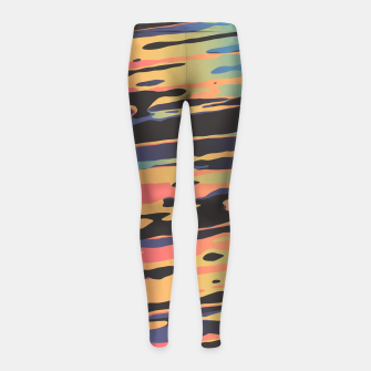 Trippy Dawntime Girl's Leggings Bild der Miniatur