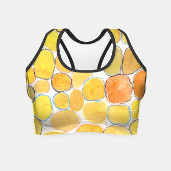 Thumbnail image of Cheerful Orange Gathering Crop Top, Live Heroes
