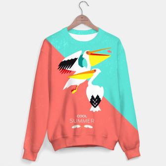 Thumbnail image of Cool summer pelicans –  Sweatshirt, Live Heroes