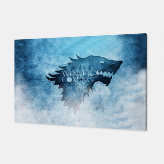 Miniatur Winter Is Coming - Games Of Thrones Toile, Live Heroes