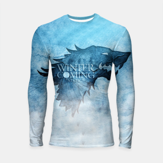 Thumbnail image of Winter Is Coming - Games Of Thrones Longsleeve Rashguard , Live Heroes