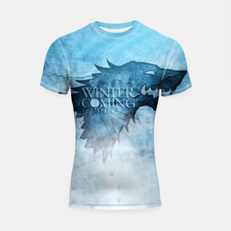 Thumbnail image of Winter Is Coming - Games Of Thrones Shortsleeve Rashguard, Live Heroes