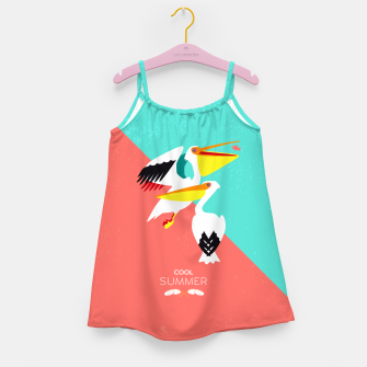 Miniaturka Cool summer pelicans Girl's Dress, Live Heroes