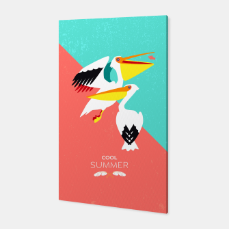 Thumbnail image of Cool summer pelicans –  Canvas, Live Heroes