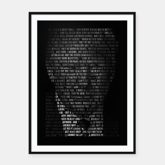 Thumbnail image of Trump Quotes Framed poster, Live Heroes