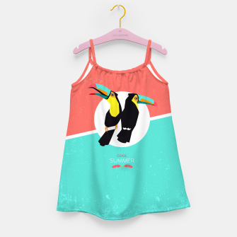 Thumbnail image of Cool summer toucans –  Mädchenkleid, Live Heroes