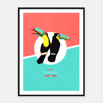 Miniatur Cool summer toucans Framed poster, Live Heroes