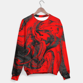 Thumbnail image of Black & Red Marble Sweater, Live Heroes