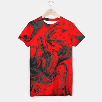 Thumbnail image of Black & Red Marble T-shirt, Live Heroes