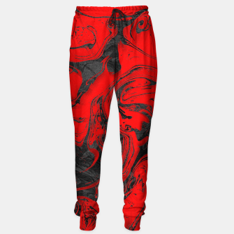 Thumbnail image of Black & Red Marble Sweatpants, Live Heroes