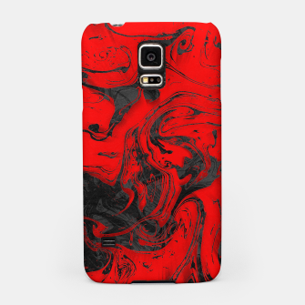 Thumbnail image of Black & Red Marble Samsung Case, Live Heroes