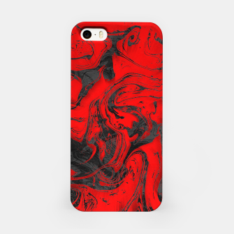 Miniatur Black & Red Marble iPhone Case, Live Heroes