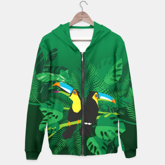 Thumbnail image of Tropical toucans Hoodie, Live Heroes