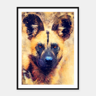 Thumbnail image of African wild dog Plakaty w ramie , Live Heroes