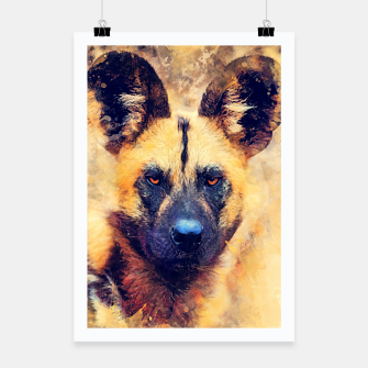Thumbnail image of African wild dog Plakat, Live Heroes