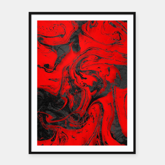 Miniatur Black & Red Marble Framed poster, Live Heroes