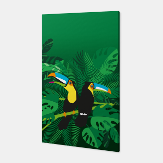 Tropical toucans Canvas thumbnail image