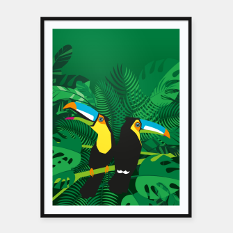 Tropical toucans Framed poster thumbnail image