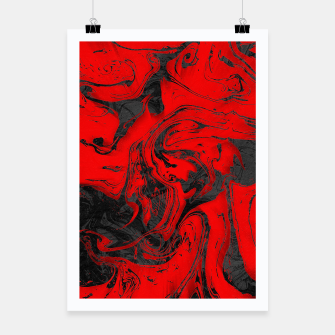Thumbnail image of Black & Red Marble Poster, Live Heroes