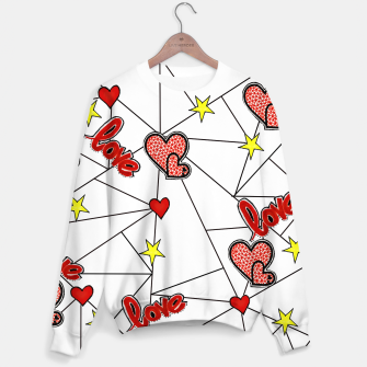 Triangle love affairs Sweatshirt Bild der Miniatur