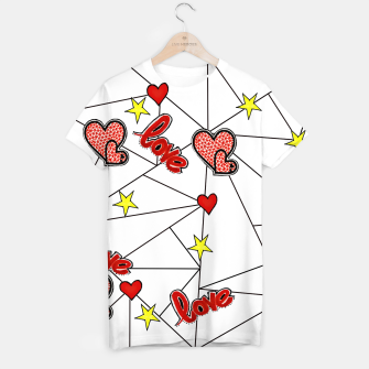 Triangle love affairs T-Shirt Bild der Miniatur