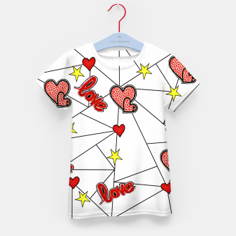 Triangle love affairs T-Shirt für Kinder Bild der Miniatur