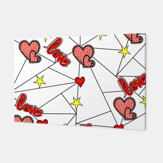Triangle love affairs Canvas Bild der Miniatur