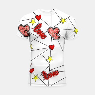 Triangle love affairs Shortsleeve Rashguard Bild der Miniatur