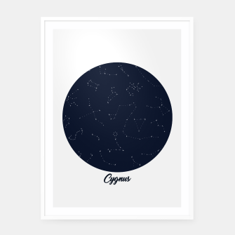 Miniatur CONSTELLATIONS CYGNUS by SIZ Framed poster, Live Heroes