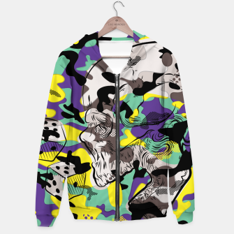 Thumbnail image of Crazy Camo Hoodie, Live Heroes