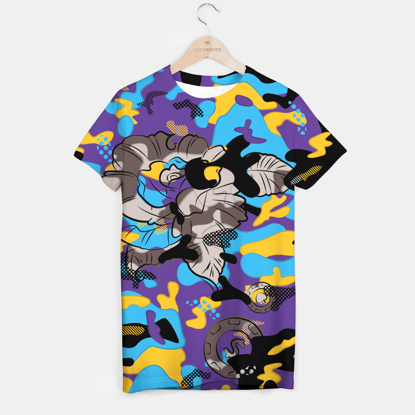 Image of Crazy Camo T-shirt - Live Heroes