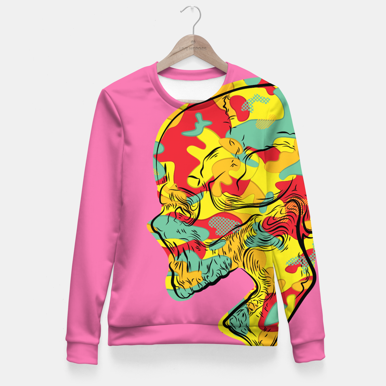 Image of Crazy Camo Fitted Waist Sweater - Live Heroes