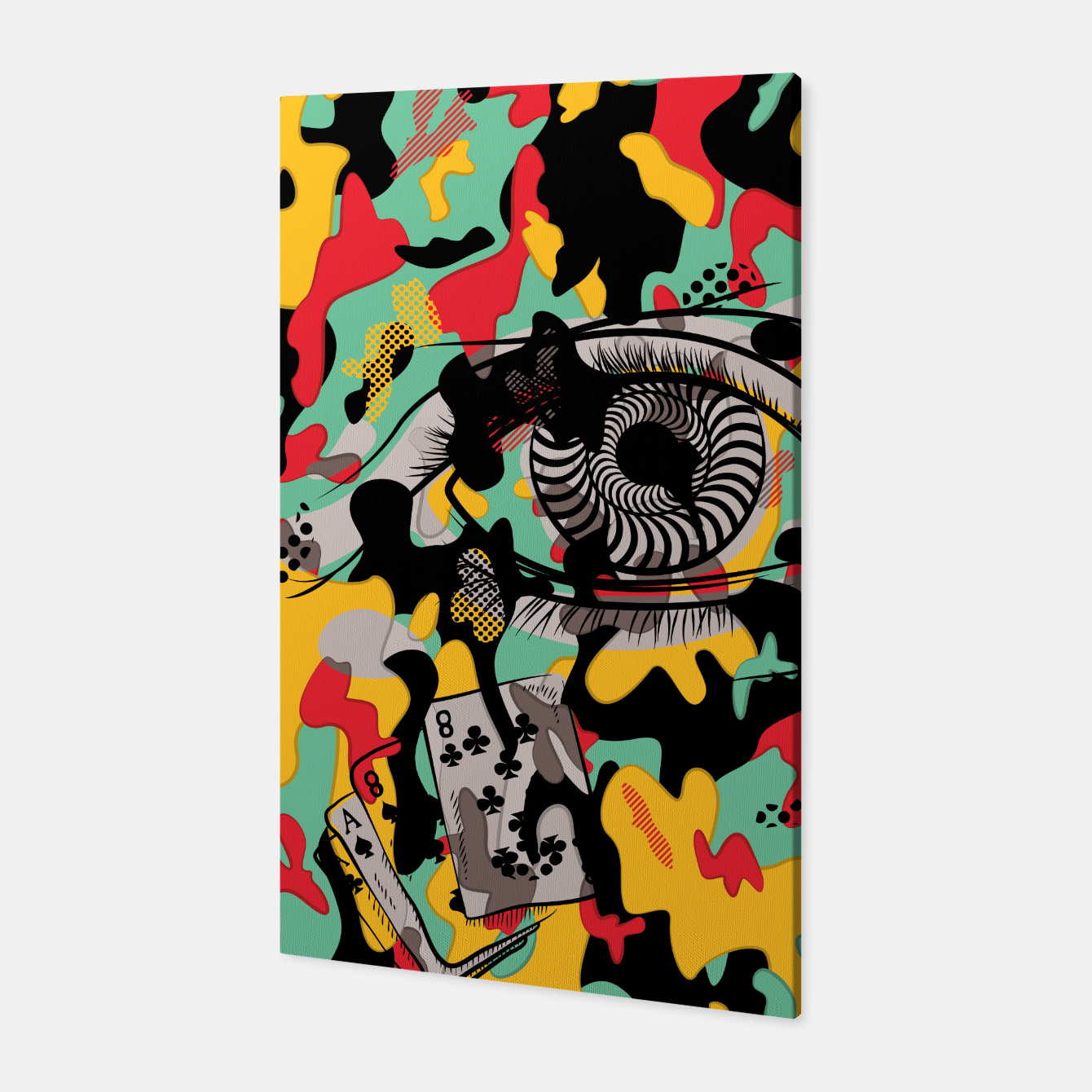 Image of Crazy Camo Canvas - Live Heroes