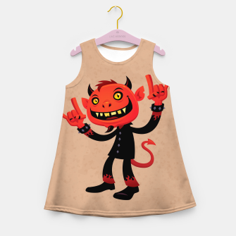 Miniaturka Heavy Metal Devil Girl's Summer Dress, Live Heroes