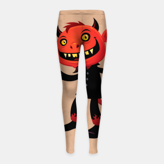 Miniaturka Heavy Metal Devil Girl's Leggings, Live Heroes
