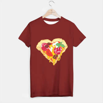 Thumbnail image of Pizza is my true Valentine T-shirt regular, Live Heroes
