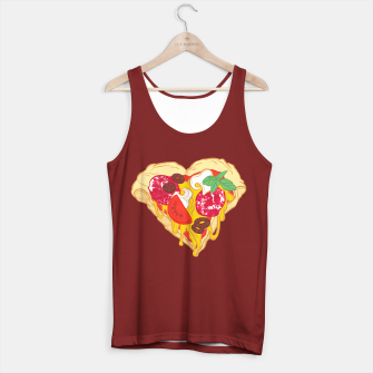 Thumbnail image of Pizza is my true Valentine Tank Top regular, Live Heroes