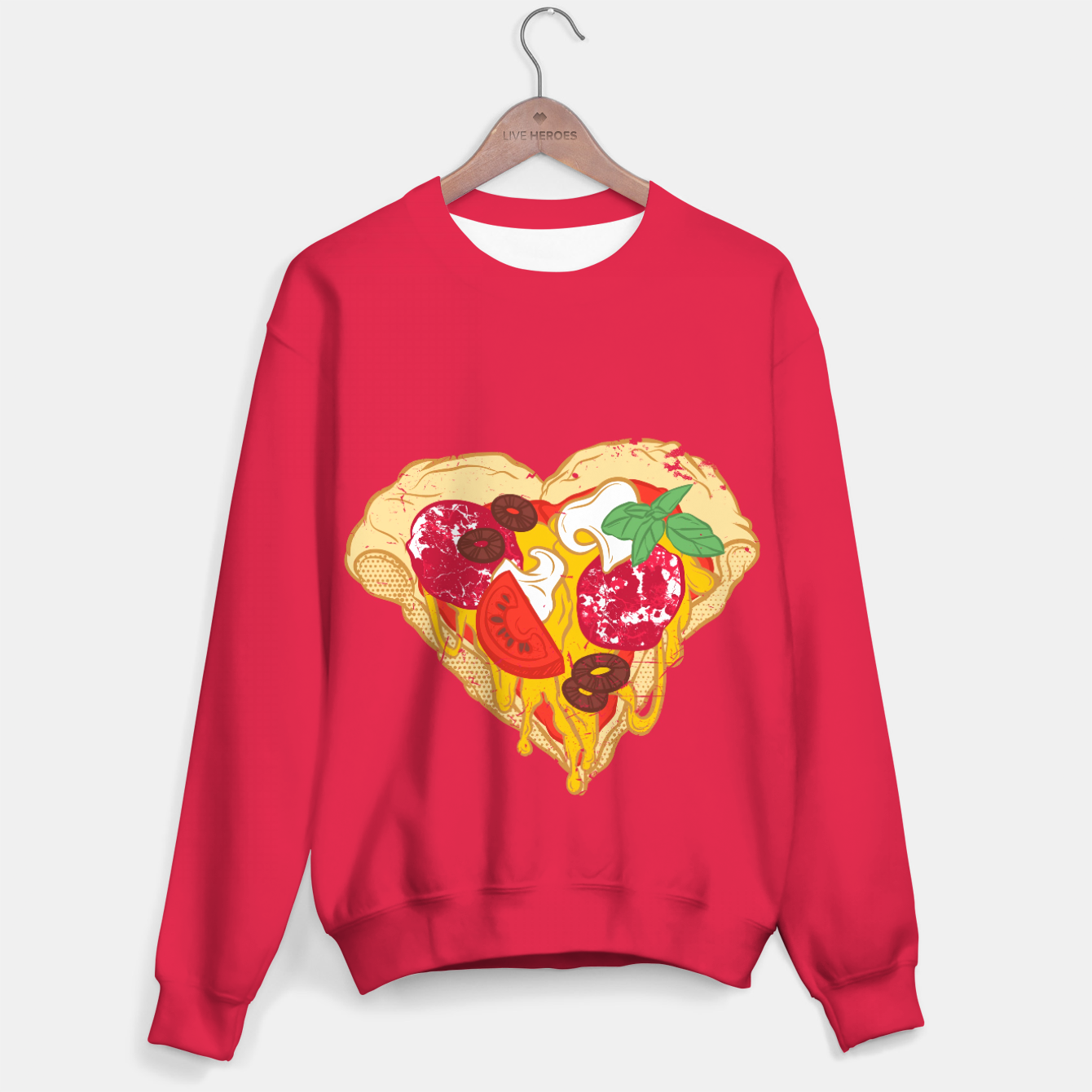 Image of Pizza is my true Valentine Sweater - Live Heroes