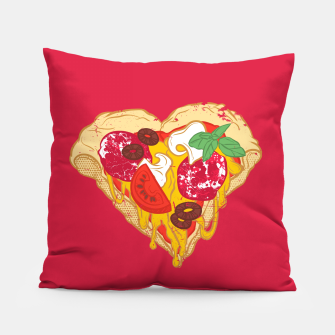 Thumbnail image of Pizza is my true Valentine Pillow, Live Heroes