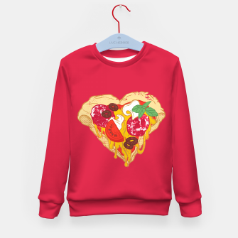 Thumbnail image of Pizza is my true Valentine Kid's Sweater, Live Heroes