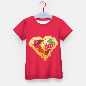 Thumbnail image of Pizza is my true Valentine Kid's T-shirt, Live Heroes