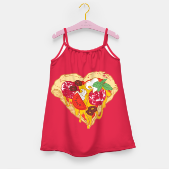 Miniaturka Pizza is my true Valentine Girl's Dress, Live Heroes